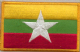 Myanmar Embroidered Flag Patch, style 08.
